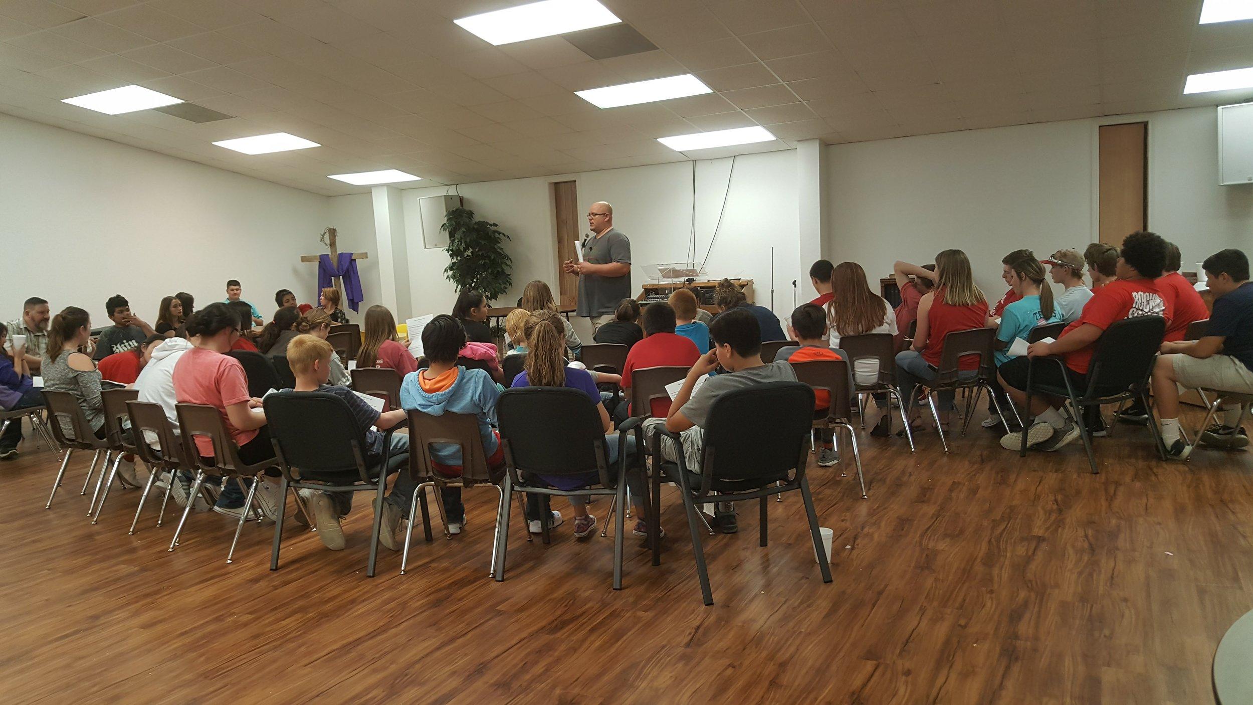 Pastor Tony and Students