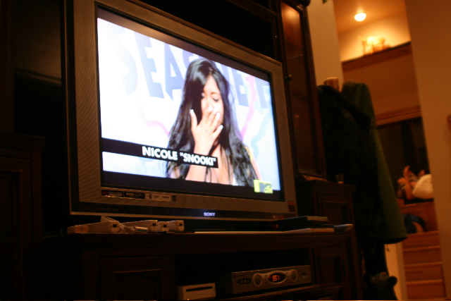 Nina insisted that we catch a pivotal episode of 'Jersey Shore'...