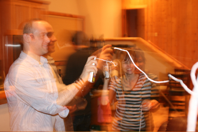 ...which led to the New Year being welcomed in with a very large supply of silly string! Too much fun—and too much clean up.