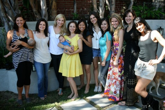 Some of our lovely attendees, including  Ashley Fauset  of  CocoRoseEvents , Leslie Sarna , Jenn Wong , Briana Lane , Sylvia Hendershott , and  Virginia Williams of  Fairly Legal . My dress is DKNY and Finn is in a onesie from  The Little Seed.