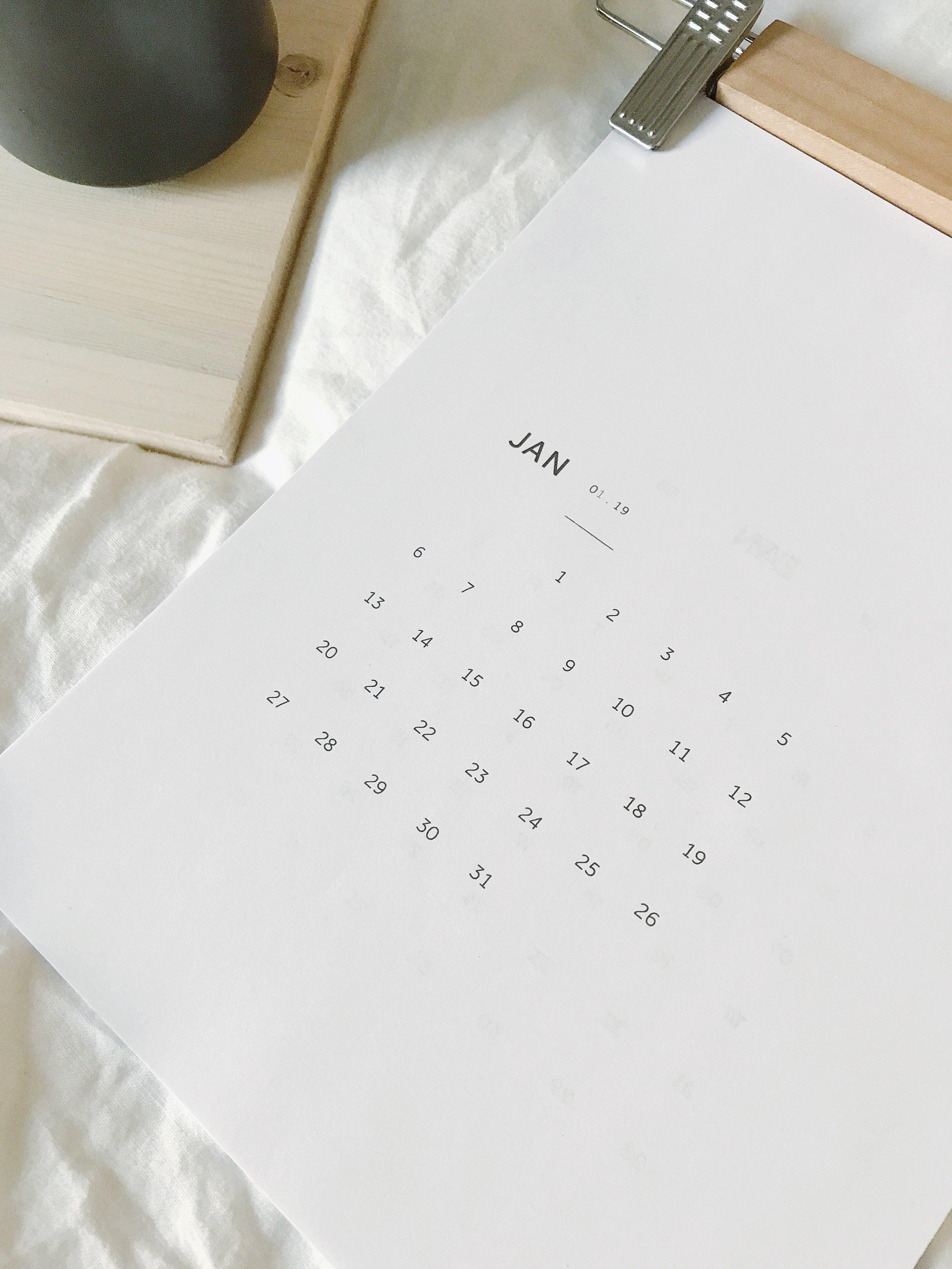 2019 Free Calendar by Lauren Sauder printable calendar, free download calendar, desk calendar, 2019 calendar, monthly calendar, new year calendar