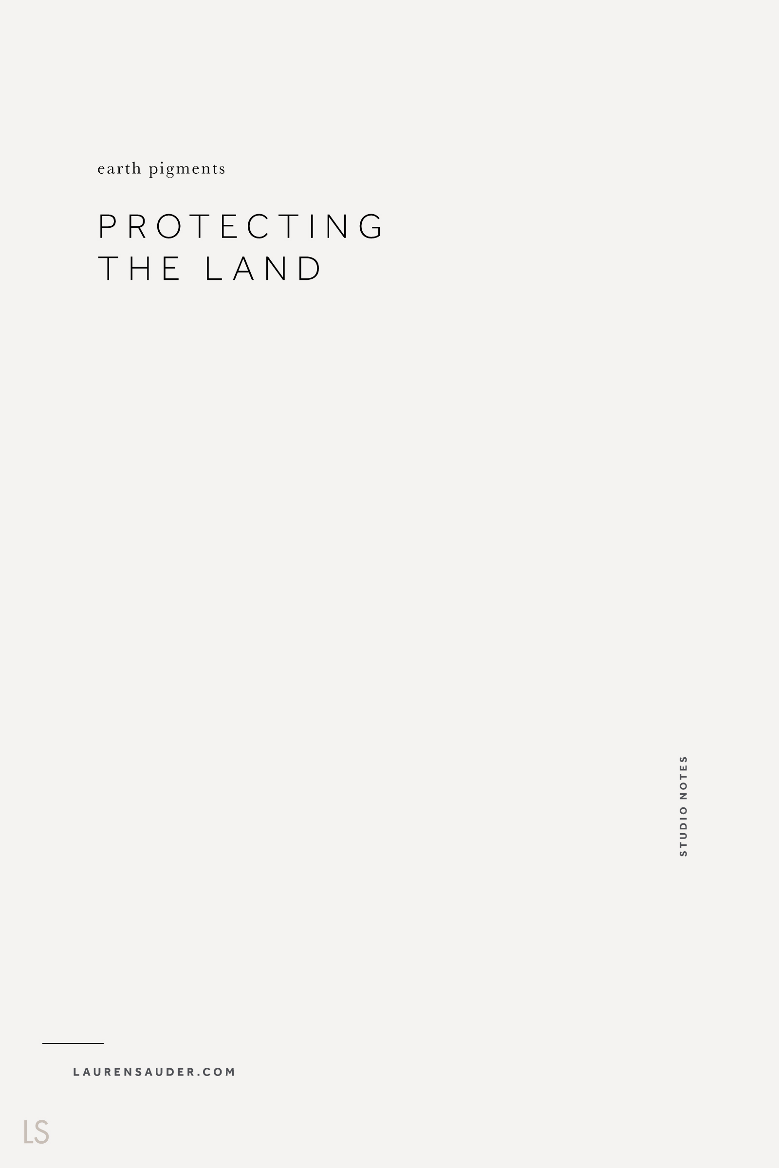 Protecting the Land