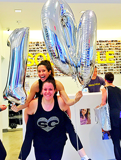 """I Feel Like an Absolute Rockstar"": How Allie Ponzio Lost 100 Pounds at SoulCycle"" -"