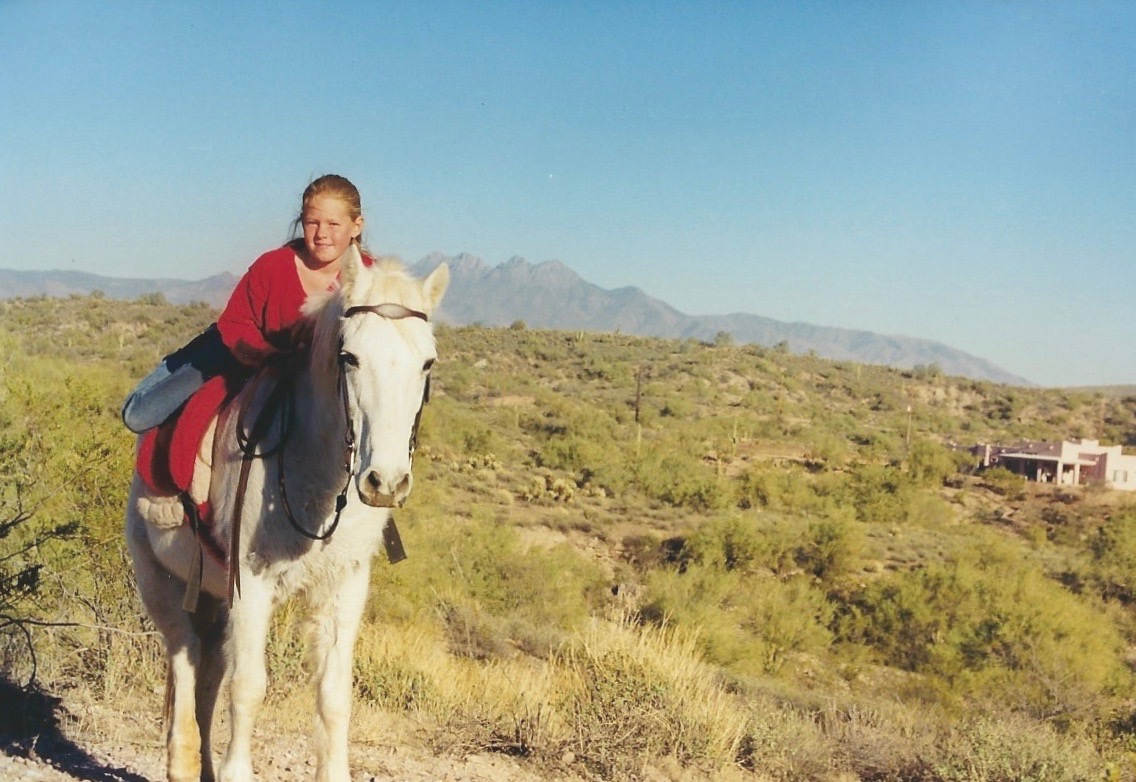 **And here's a photo of Princess and I out on a trail ride.