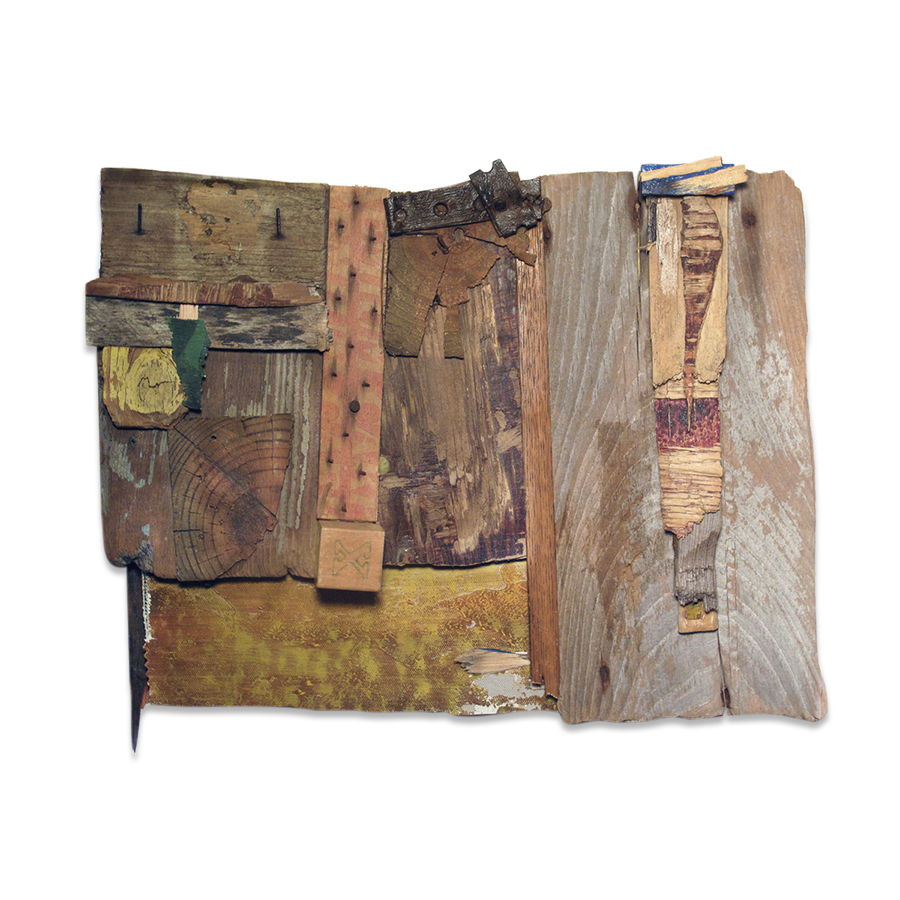 WOODWORKING 4 2014 found objects/mixed media 12 x 15 in