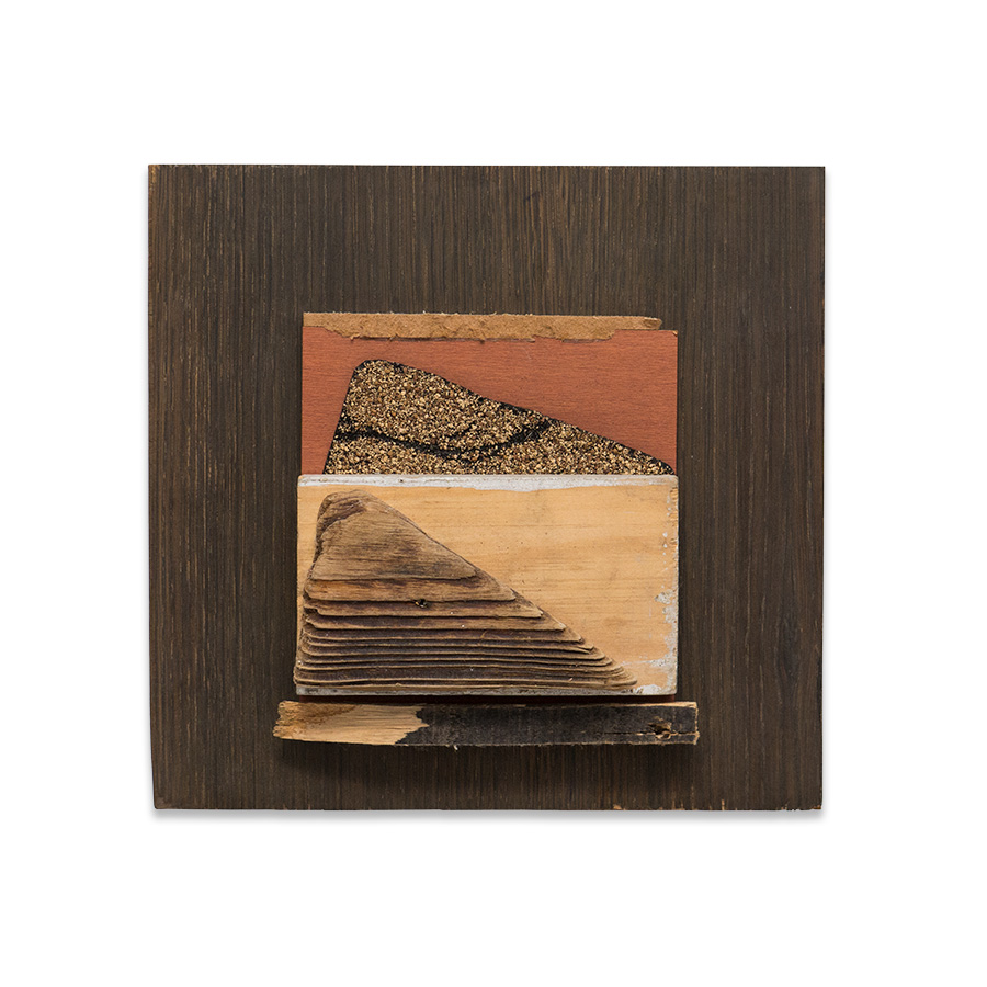 DOUBLE LANDSCAPE,2016 found wood 10.25 x 4 x 12 in