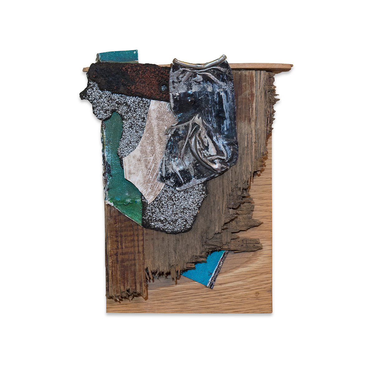 BABY TOUCH AND FEEL 2017 found objects/mixed media 9.5 x 7.5 in