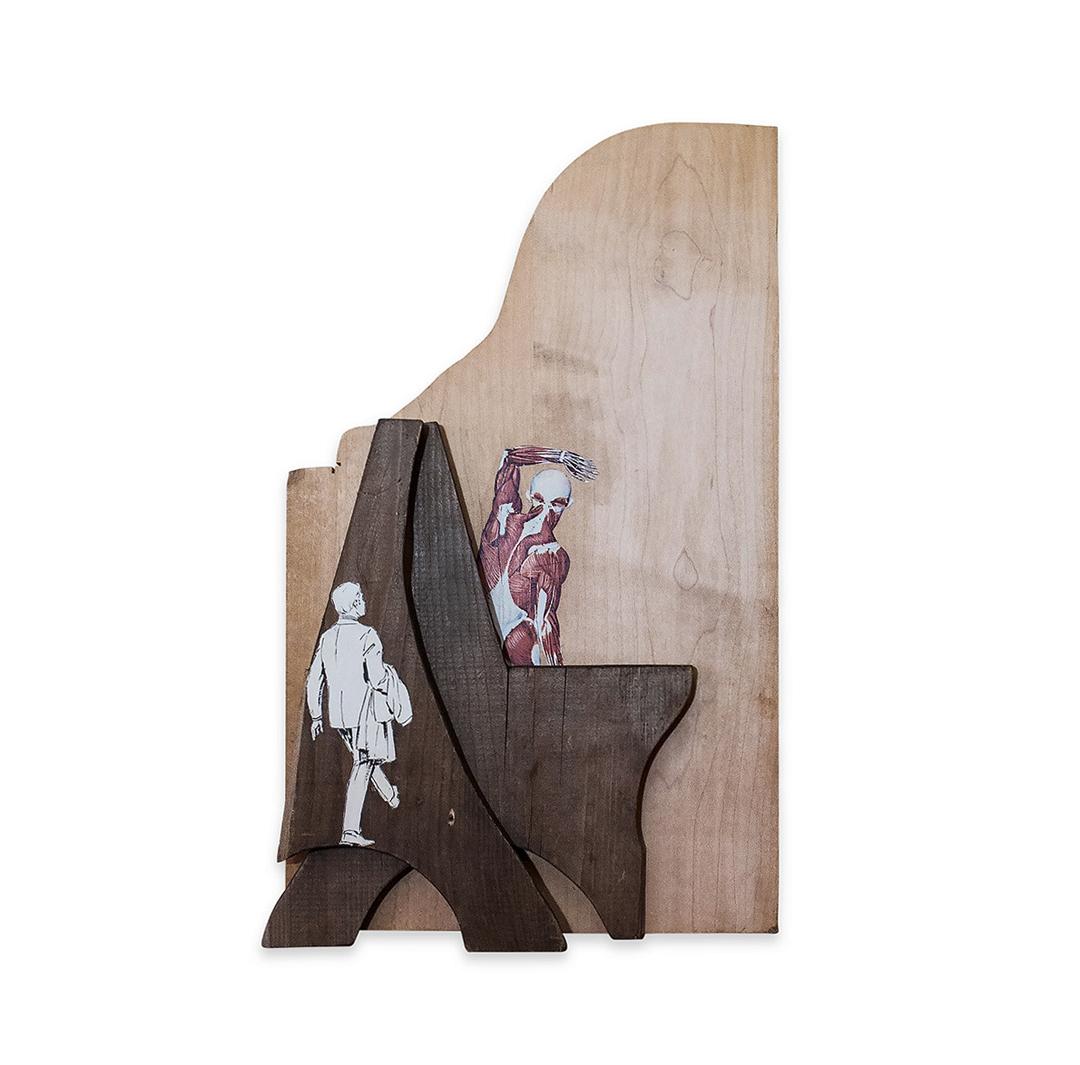 PASSING THROUGH 2017 ound wood/mixed media 18 x 3 x 13