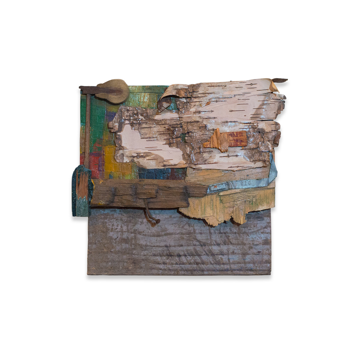 LITTLE LANDSCAPE 2015 found objects/mixed media 9 x 3 x 10 in