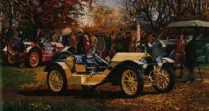 Stutz Bearcat  a painting by Bill Sims