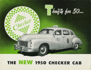 1950 Checker Model a-2 (checker ad circa 1950)