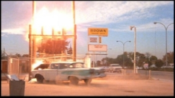 an edsel goes up in smoke in columbia pictures  used cars  (1980)