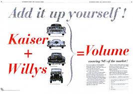 Kaiser trade Advert CIRCA 1953
