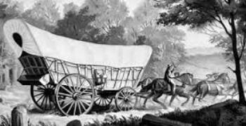 Studebaker Conestoga Wagon helped settle the west (www.hearttoheartstories.com)
