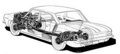 The  1961 Pontiac Tempest  was testiment to the engineering genious of John Z. DELorean. with a rear transaxle,4-wheel independent suspension and 50/50 weight distribution, this TECHNICALLY ADVANCED COMPACT was probably the best haNDLING AMERICAN CAR ON THE market. (www.pontiacsonline.com)