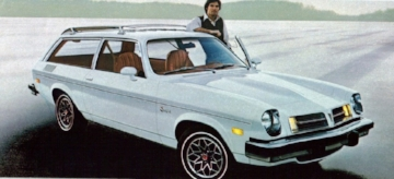 TAKEN OUT OF CONTEXT, THE VEGA-BASED  1976 PONTIAC ASTRA  MADE A MOCKERY OF PONTIAC'S PERFORMANCE IMAGE. BUT THIS WAS THE SEVENTIES. LOOKS AND PERFORMANCE HAD LONG BEEN SACRIFICED ON THE ALTER OF SAFETY AND FUEL ECONOMY. COMPARED TO ITS PEERS, THE ASTRA WASN'T TERRIBLE LOOKING, AND LATER, SWAPPING IN THE ANCIENT BUT RELIABLE IRON DUKE MILL SPARED OWNERS THE HEAD GASKET MELTING, OIL SPEWING NIGHTMARE OF ITS SIBLING'S INFAMOUS ALUMINUM BLOCK. WE CAN BE THANKFULL FOR SMALL FAVORS. (pontiac ad art circa 1976)
