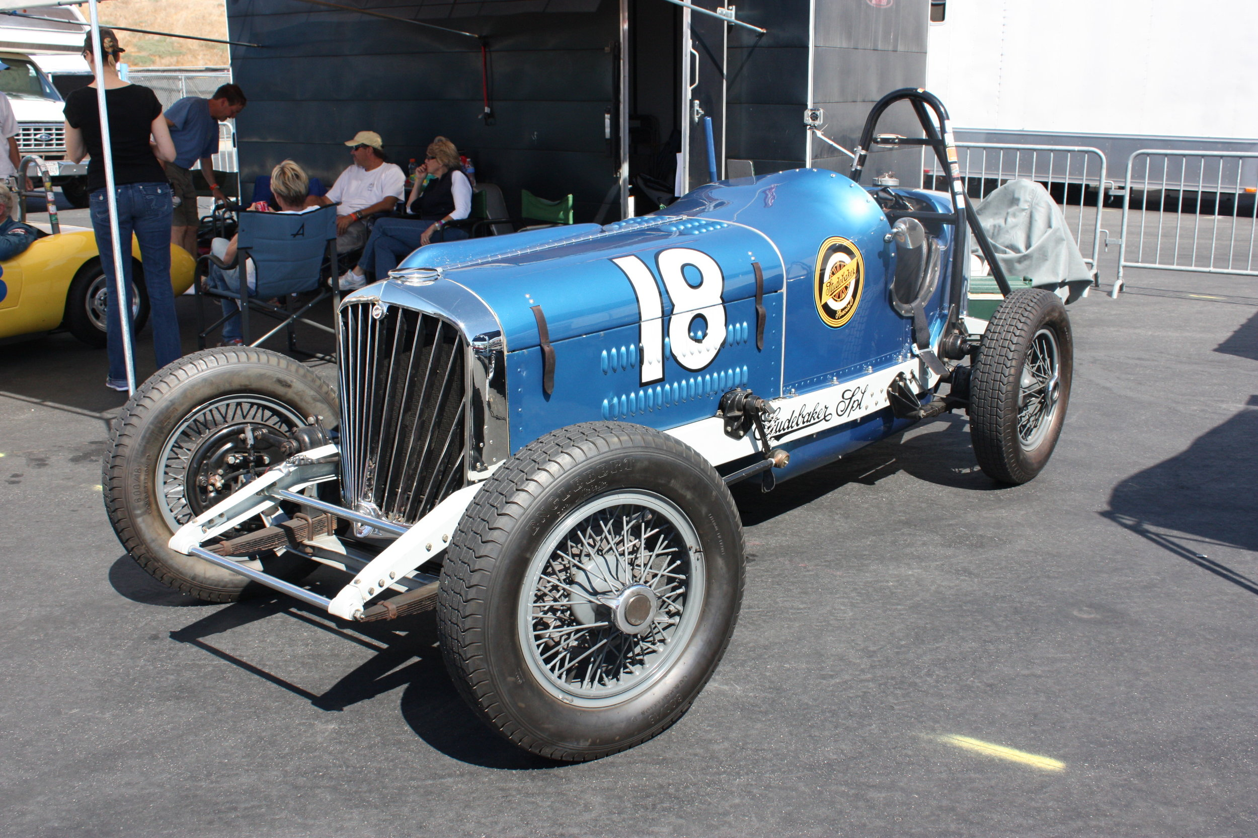 1932 Studebaker Special Indy racer powered by the President's STRAIGHT-Eight engine (photo by Mal Pearson at Laguna Seca 2015)