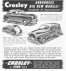 Crosley's cars in the early 1950s ( www.servicemotors.com )