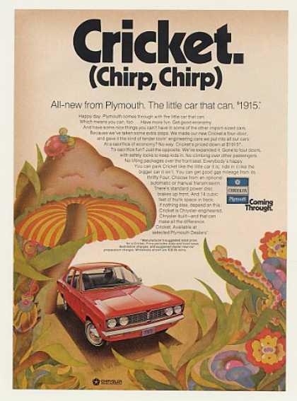 Living in a Fantasy. Plymouth advert Circa 1971