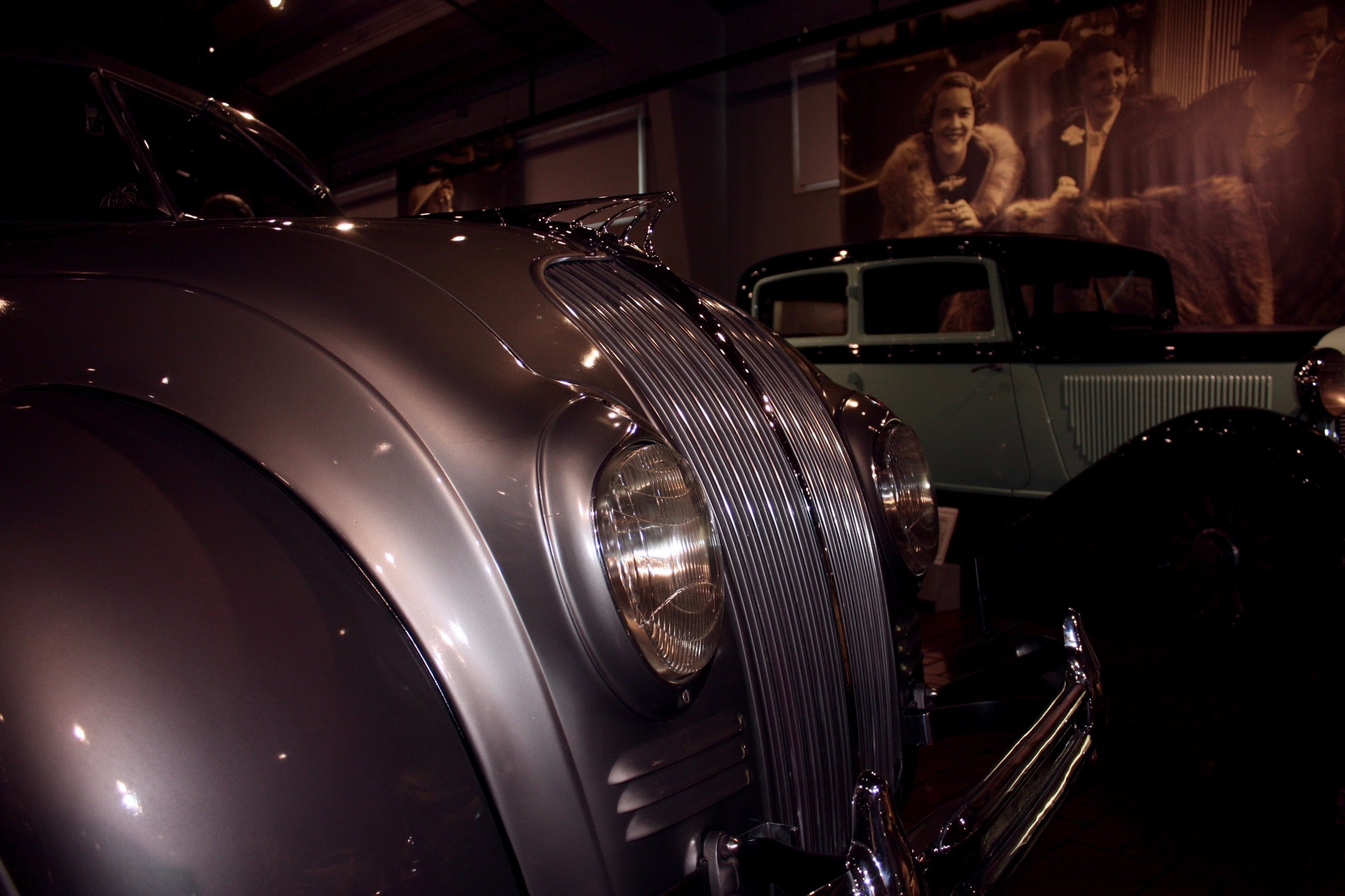1934 DeSoto Airflow at the Gilmore Museum with 1932 DeSoto in background