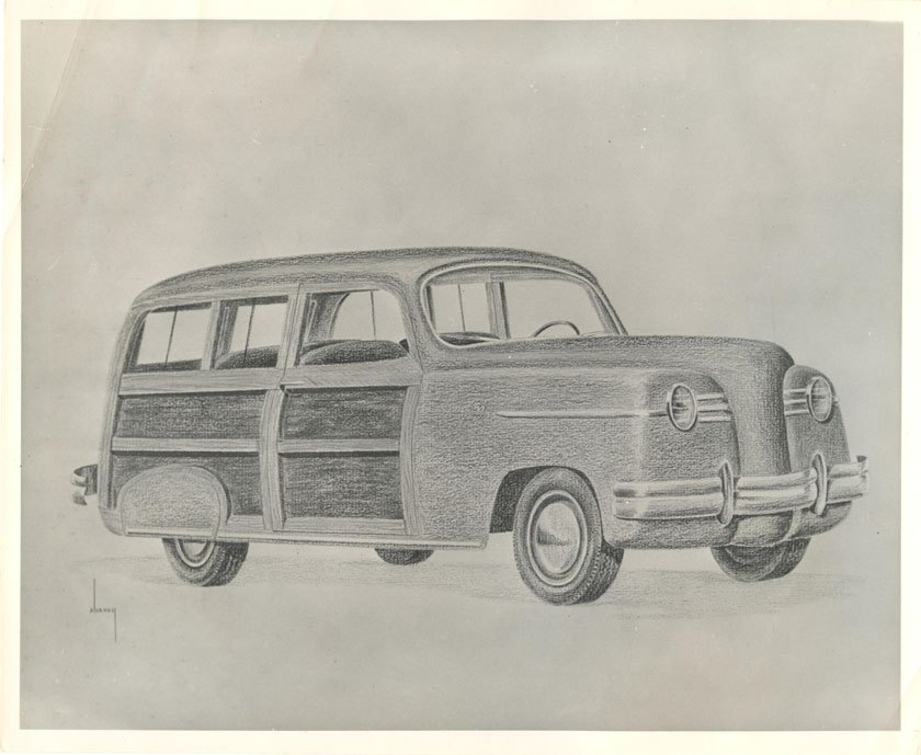 A new wood bodied station wagon was one of George Keller's key contributions ( www.Hansonmechanical.wordpress.com )