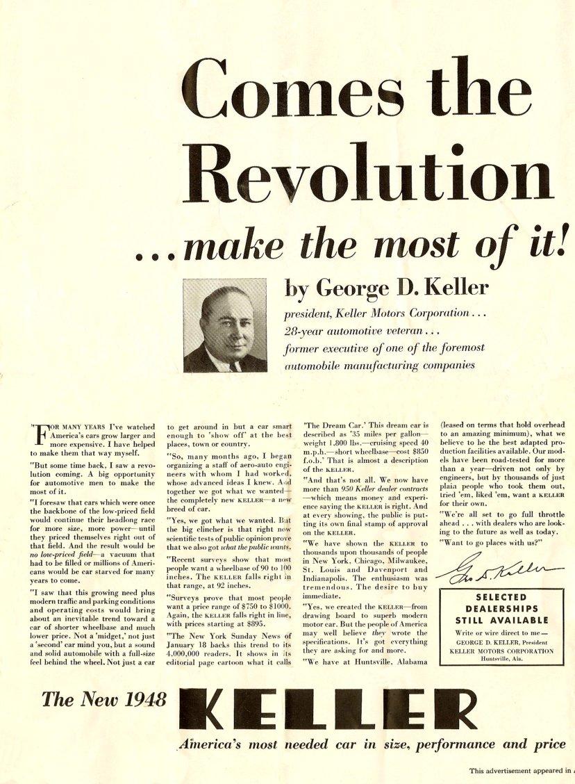Selling Big George Keller (www.ChucksToyland.com)