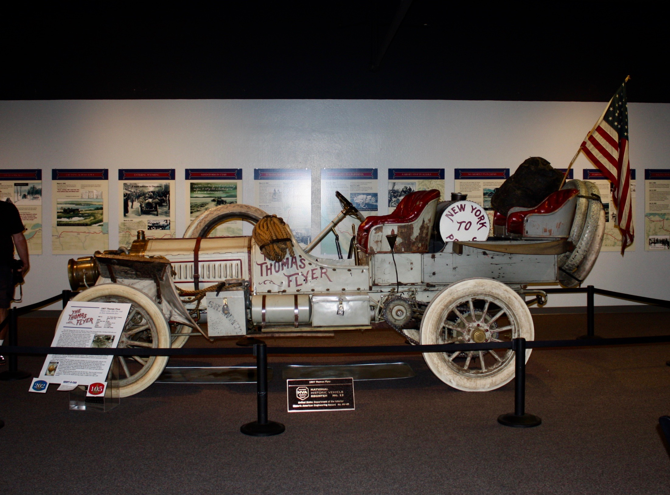 The famous Thomas Flyer resides at the National Automobile Museum in Reno, NV