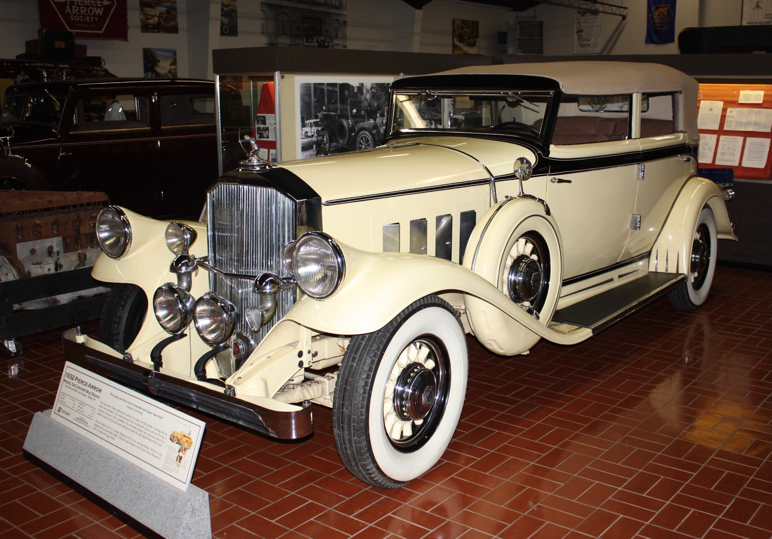 A 1932 Pierce Arrow Model 54 at the Gilmore Museum in Hickory Corners Michigan