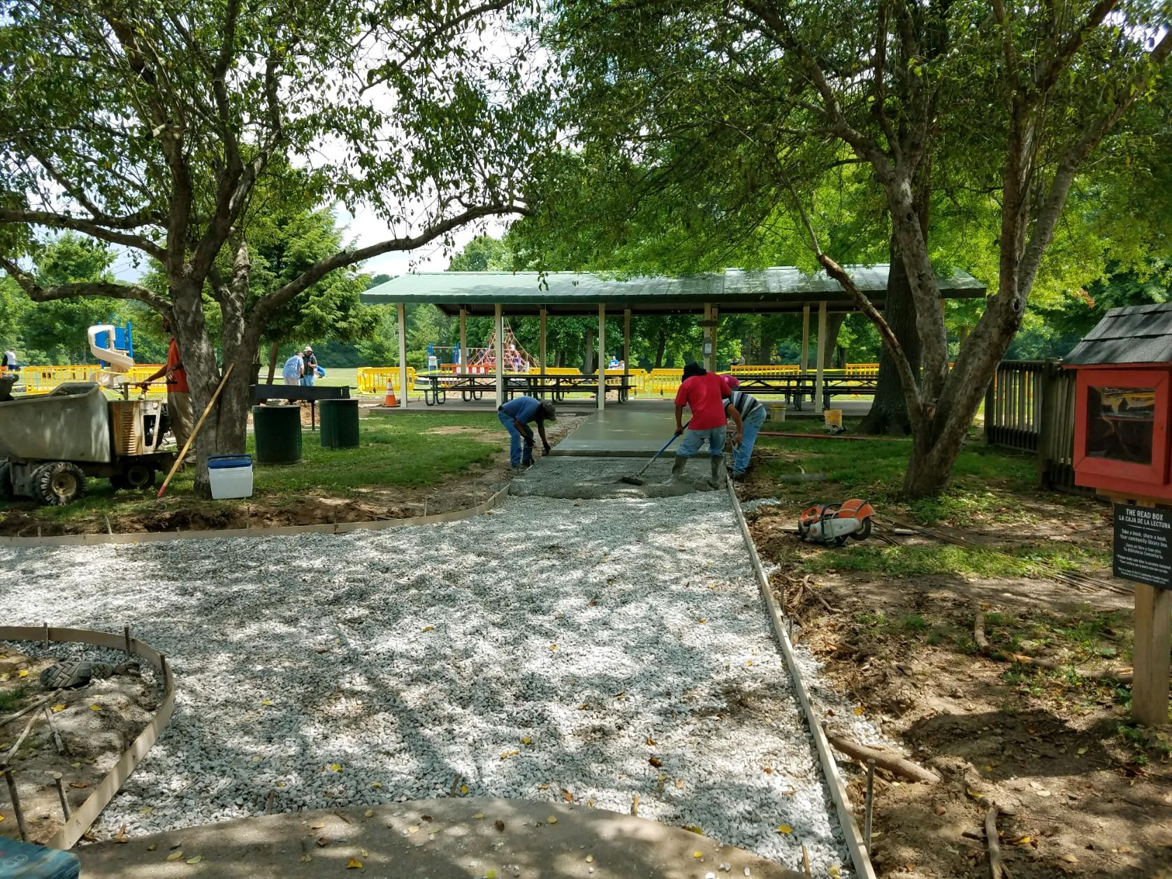 Work continues on upgrades to the Tinkerbell Pavilion at Pinkerton Park!