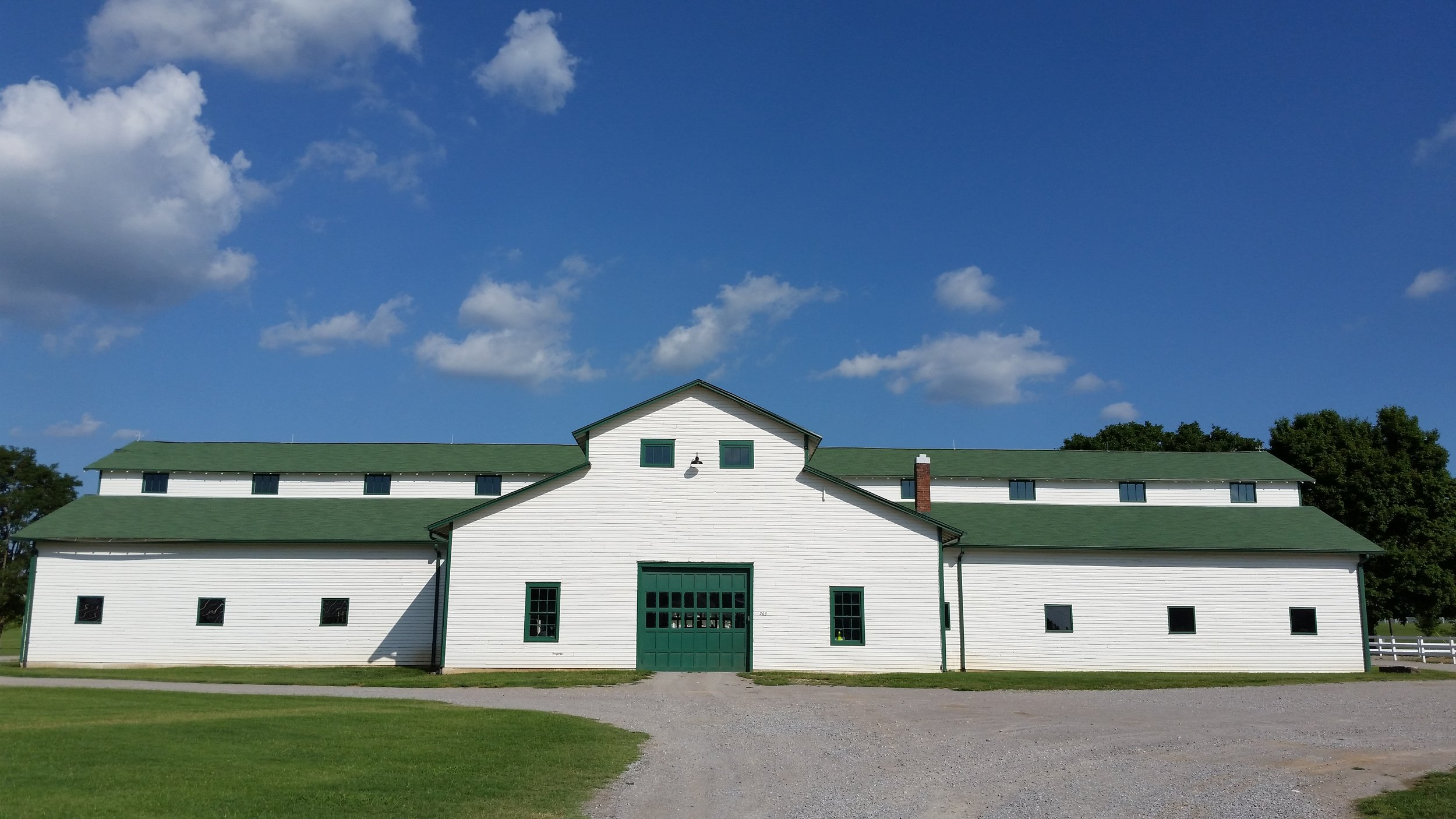 The historic Main Barn at The Park at Harlinsdale Farm.