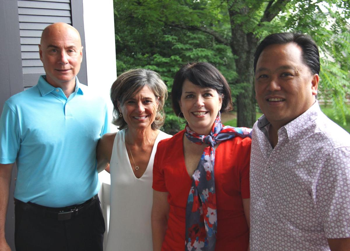 Ken and Ellie Westman Chin (right), along with Susan and Brian Smallwood (left), are combining their talents to be chairs of the 2019 Raise the Roofs event.