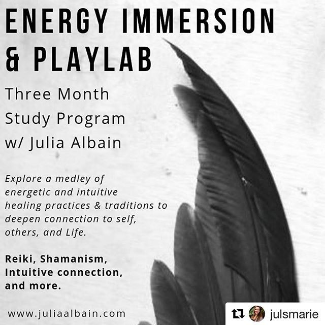 Coming Up! Ask about discounts when you register by 9/2! ✨  #Repost @julsmarie with @get_repost ・・・ COMING UP// Take a deep dive, wild ride into the realms of energy work & sacred connection. Sitting in community and reconnecting to our souls and the soul that lives in all things is a simple and radical way to show up and contribute toward change. Reach out for more info and to chat about how this might be right for you. Offering $200 off when you register by Sept 2nd ✨ #reiki #shamanism #energyhealing #community