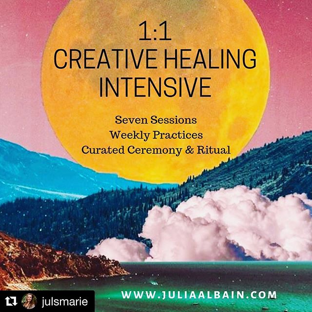 Ready to do some deep work? Check out @julsmarie 's current offerings as we move into Autumn ✨  #Repost @julsmarie with @get_repost ・・・ Moving into this Autumn season I'm offering five spots for intensive 1:1 work for those who are feeling called to carve out dedicated space for themselves and to throw some serious attention and energy at any area of life thats ready for transformation.  I could sit here and spin a real snazzy sales pitch for you on how we will manifest your #bestlife if we work together, but if you know me you know that's not really my jam... What I will tell you is that I've been privvy to miracles lately, in myself and others, that have humbled me and reminded me that the energy truly is everything. This work is very real, and very important right now.  And I've been challenged to remember that we are so deeply interconnected... My stuff effects you, it can be no other way.  Strangely, I'm way more inspired to dig into my healing and growth when I remember that it is for the good of all beings. Our wounds and our gifts do not exist in a vacuum.  We all have the natural capacity to align our lives, to shift our most stubborn patterns and challenges, and to create structures and belief systems that are sustainable, and nourishing, and dare-I-say joyful.  I can offer you quick relief in response to your stress and trauma for the rest of my life, but these days I'm way more interested in showing you how you already have the ability to shift out of those patterns for good.  Reach out if you'd like to work in this way. These 1:1 Intensives include extended healing sessions, weekly practices and meditations, personalized ritual and ceremony, and a whole lot of love and support ✨. Available in person or remotely... if you are curious at all let's chat ❤️🧙🏼♀️⚡️ #reiki #energyhealing #shamanichealing #transformationinconnection