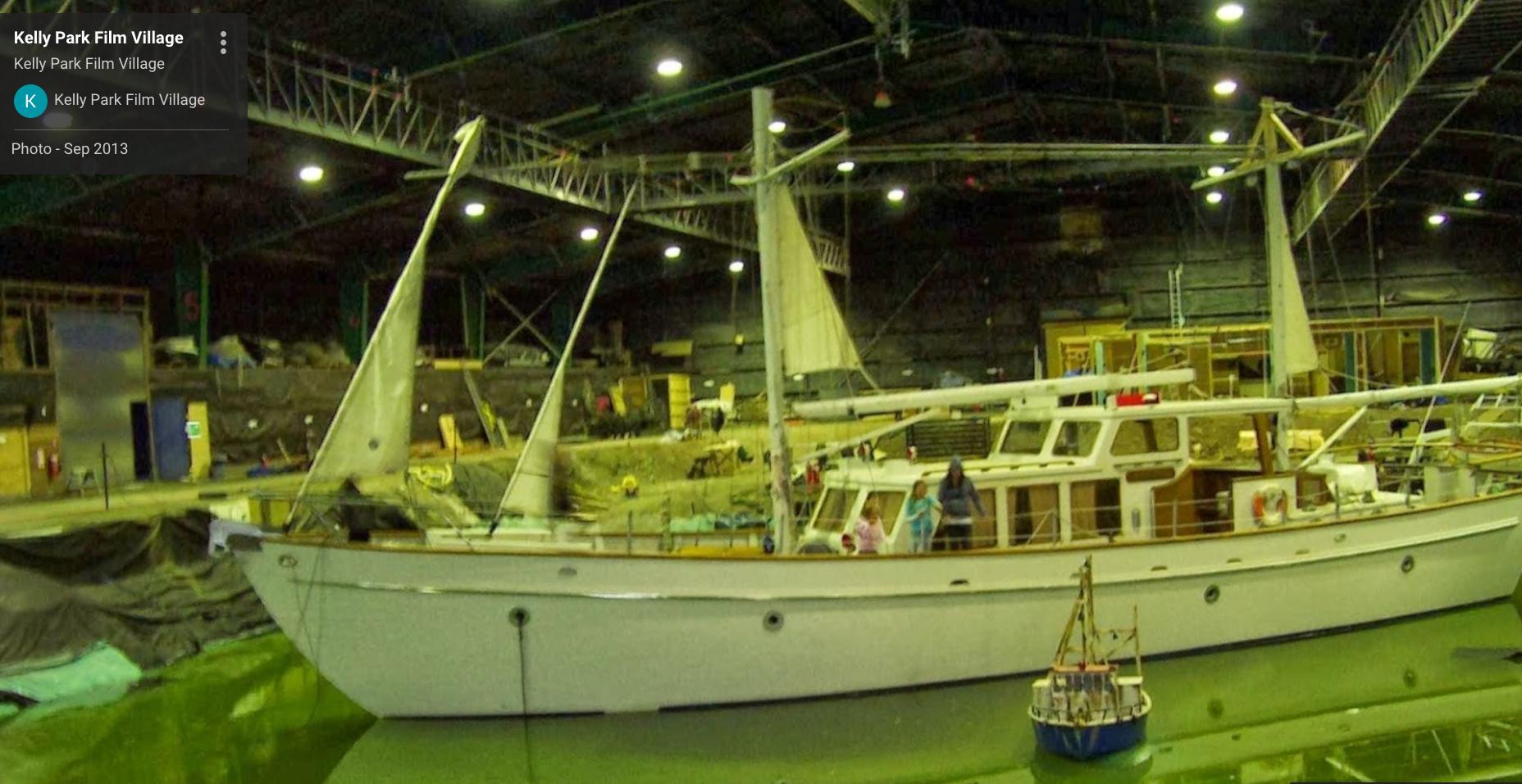 Studio floor excavated to create pool for boat scene -   FILM TRAILER