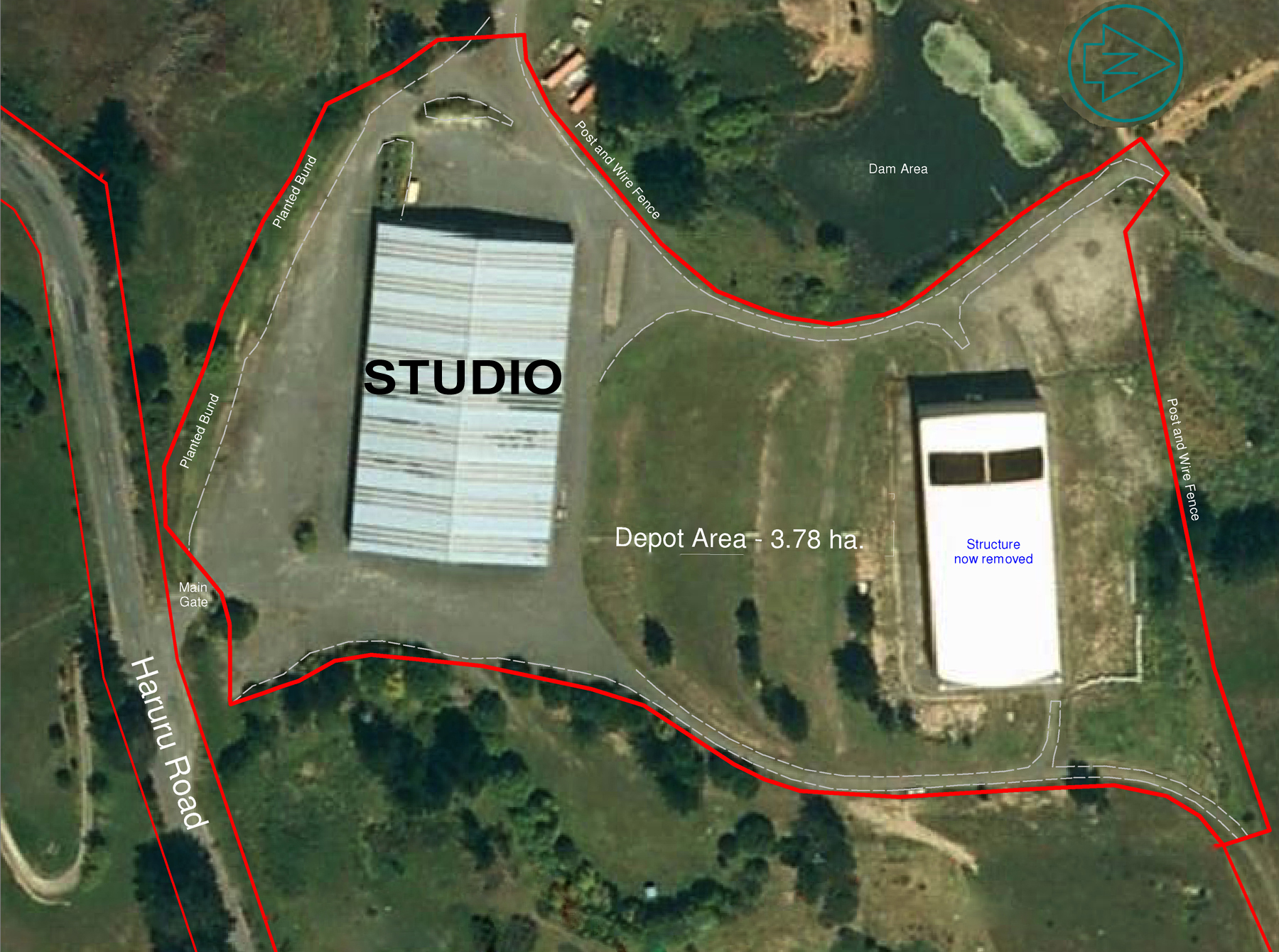 Kelly Park Film Studio Aerial 2014 (studio 2 now removed)