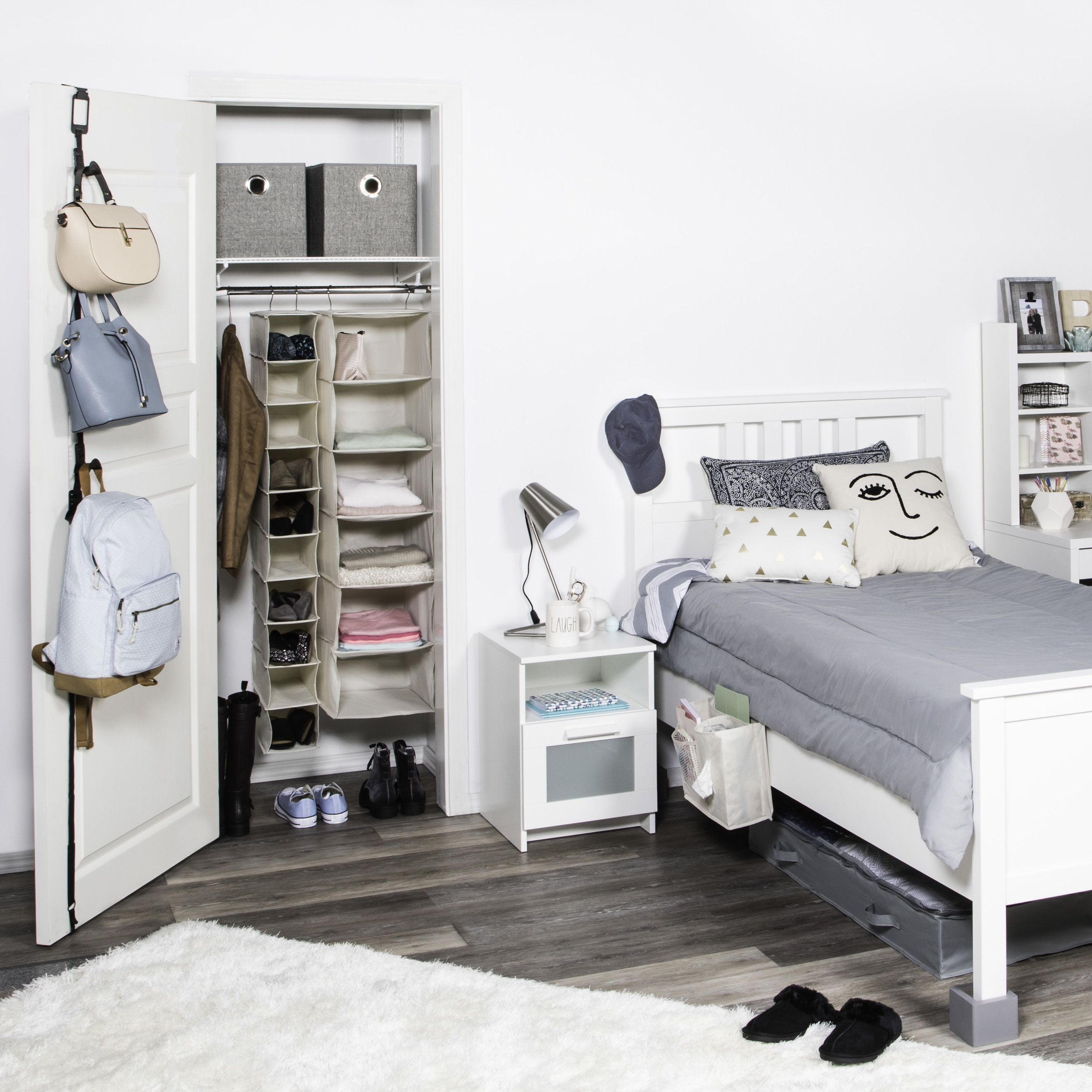 Get the most out of your space! - Although move-in day is exciting, everyone knows it can be overwhelming! Keep your cool by staying organized with Richards' line of Back to College products.All products are made with durable materials to withstand the college years and multiple moves. Add multiple cubic feet of storage space to your dorm room, and make it feel like a home.From under the bed, to over the door, to closet, bathroom and more - let Richards keep everything in its right place.Scroll down to see even more of our new Back to College products, and contact your Beacon representative to order.