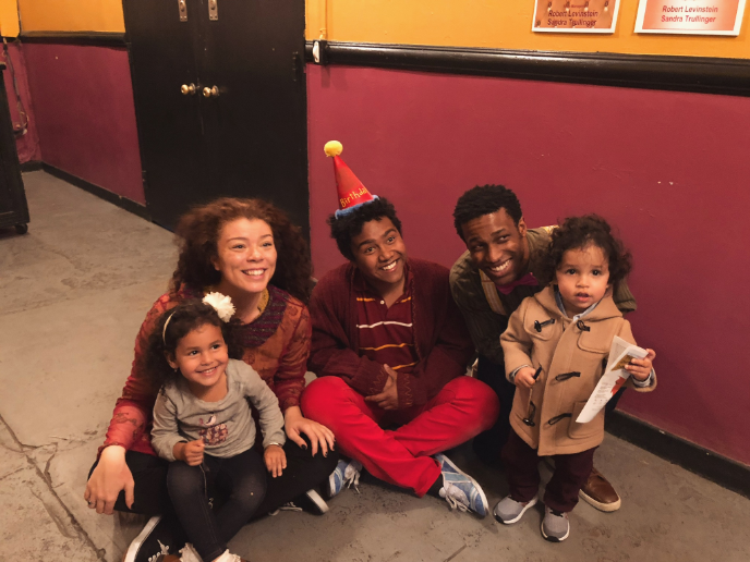 Meet and Greet with some audience cuties after 'The Snowy Day' Matinee