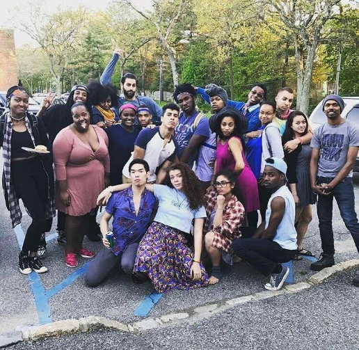 The POC's of Post Theatre Company at the Company Barbeque