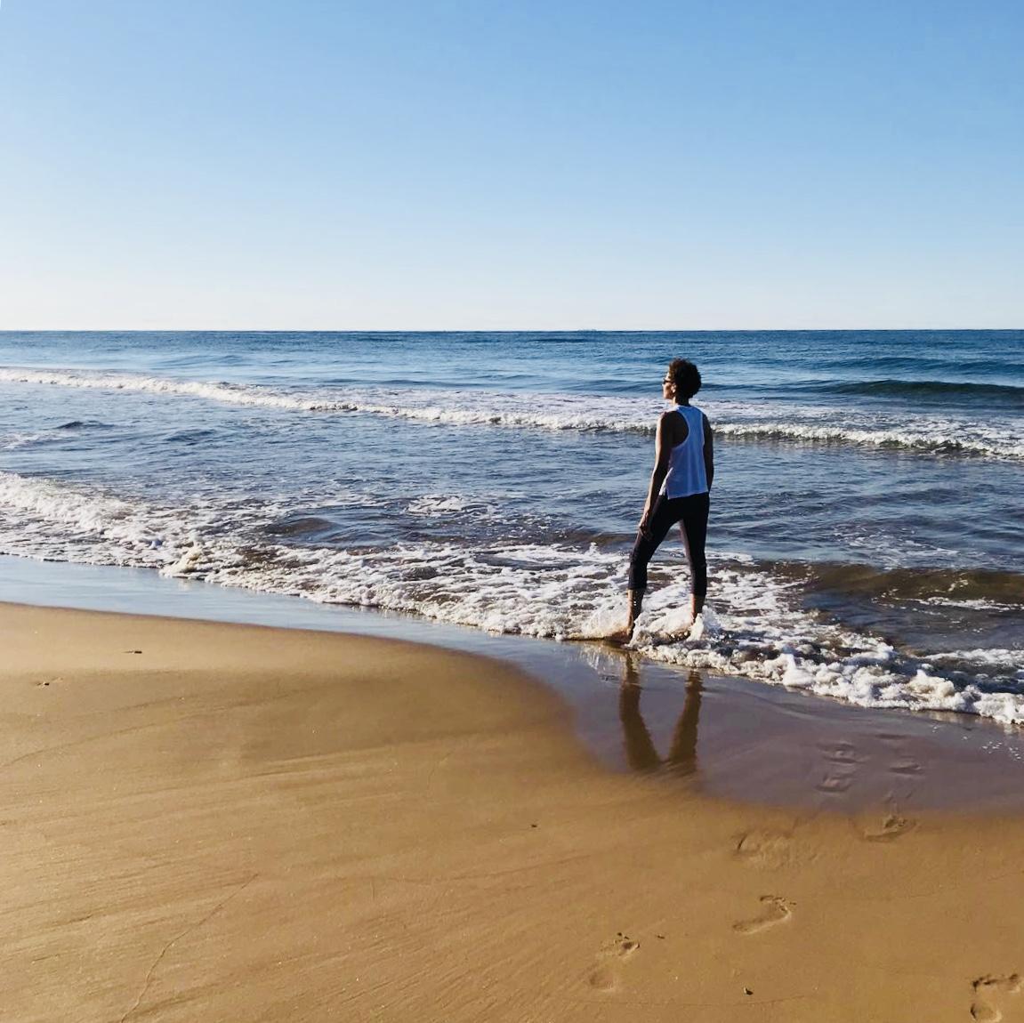beach woman relaxation