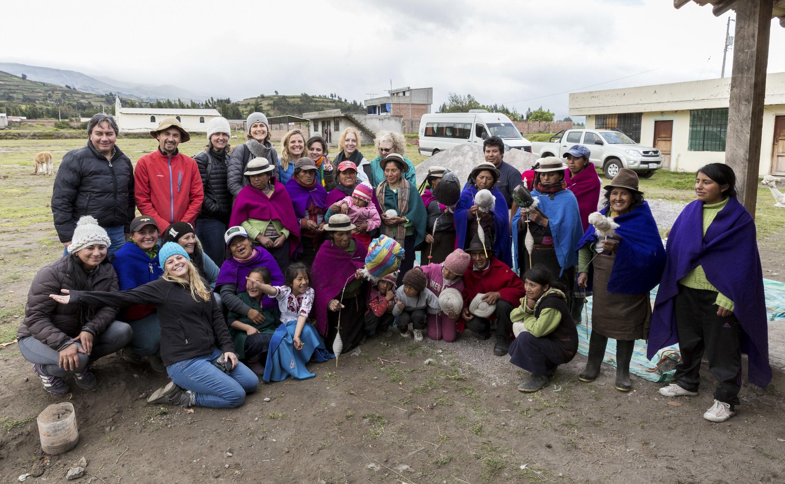 The whole gang outside Riobamba