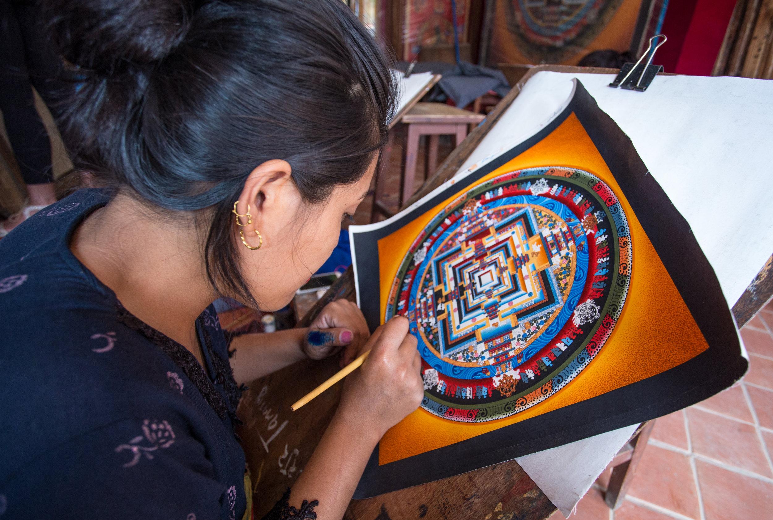 Mandala painting school, Baktipur