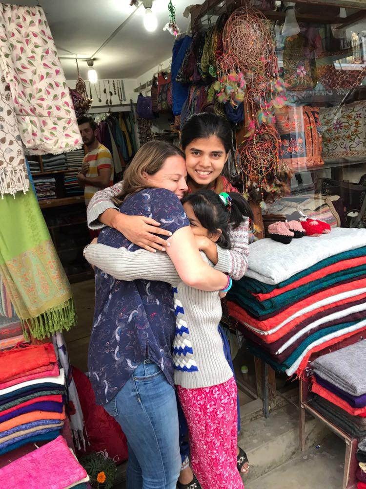 Saheen and her helper at her shop, Katmandu