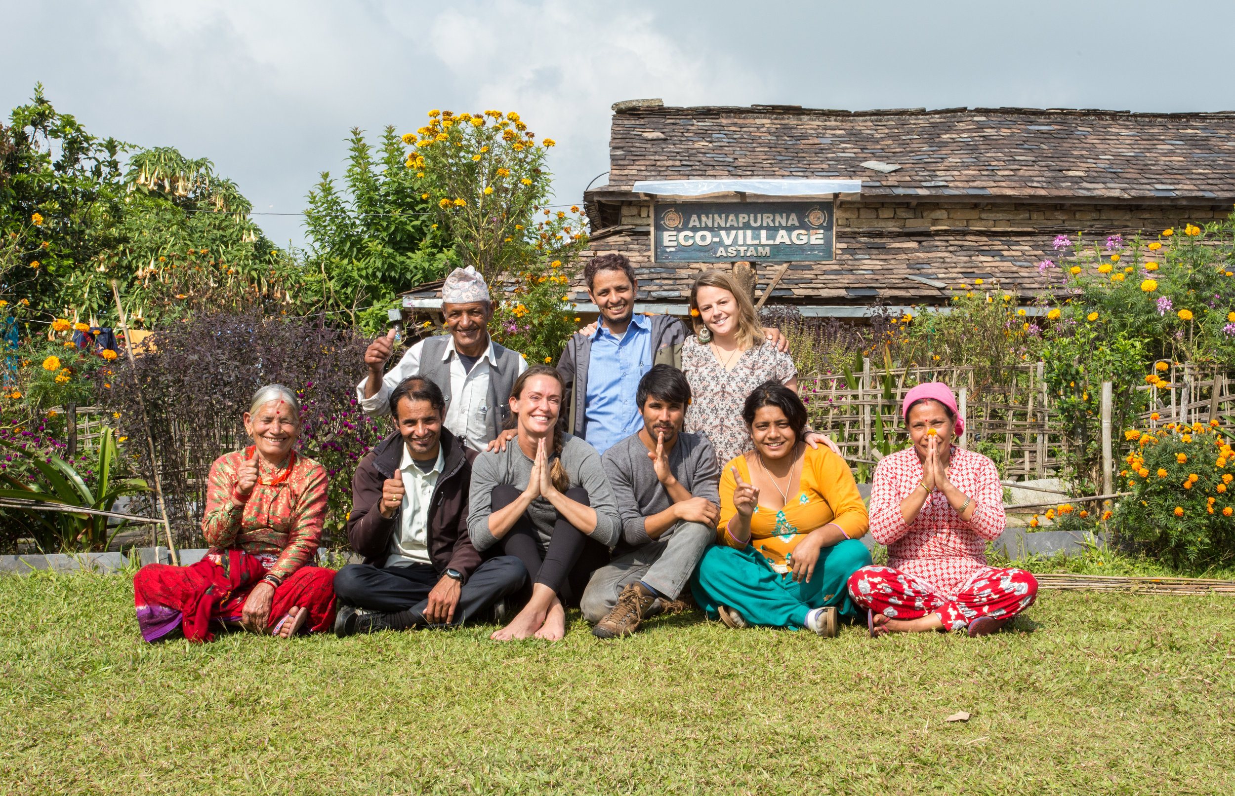 The wonderful family who owns Annapurna Eco-Lodge.