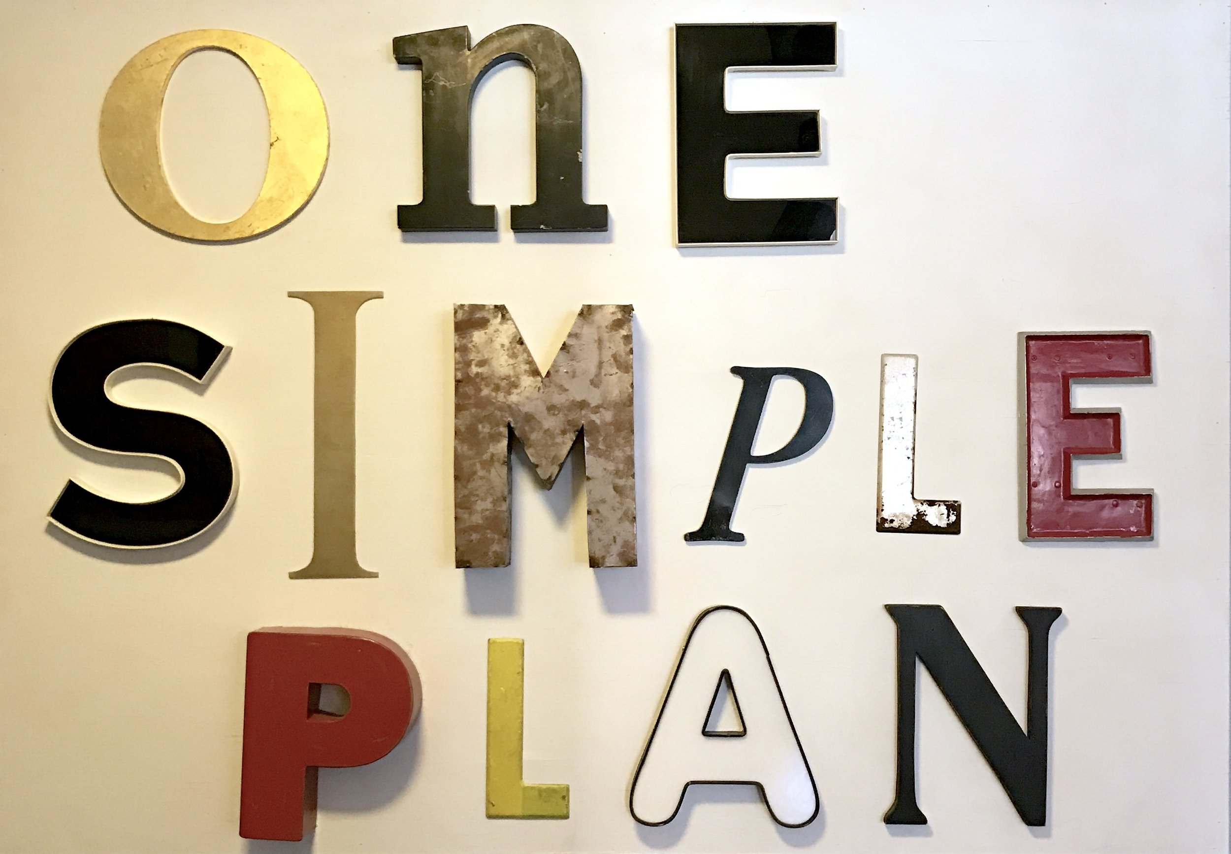 One Simple Plan...  -