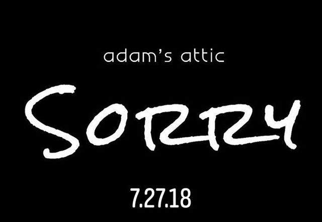 """But, can't we just skip back to when we both lay down our arms…"" …1 more day until the release of #AdamsAtticSorry #NewMusic #NewMusicVideo with @jojomhenry @derekihenry @scottboazman @angelicalhenry"