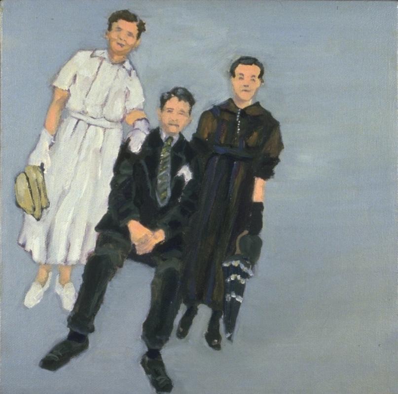 "Italian Family, Oil, 14 x 14"""