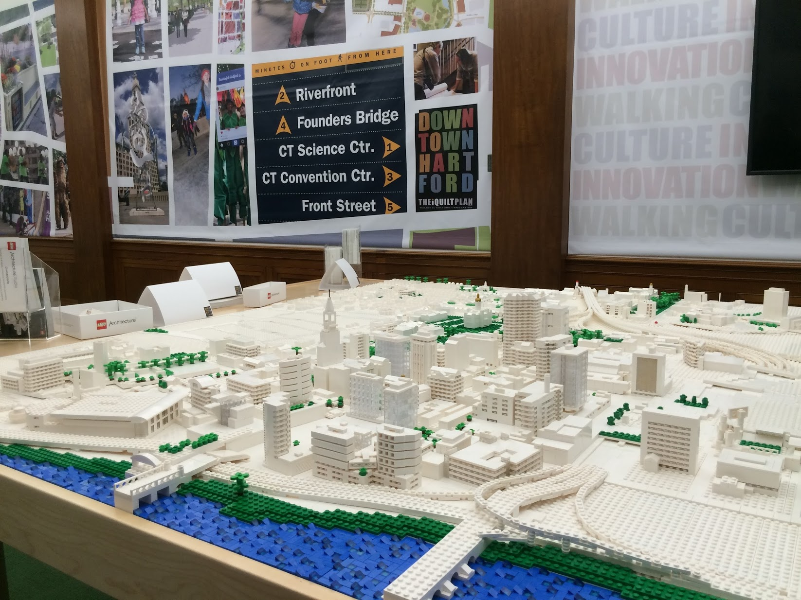 LEGO model of Hartford, CT built for the iQuilt Plan, with help from Connecticut LEGO Users Group (ConnLUG)