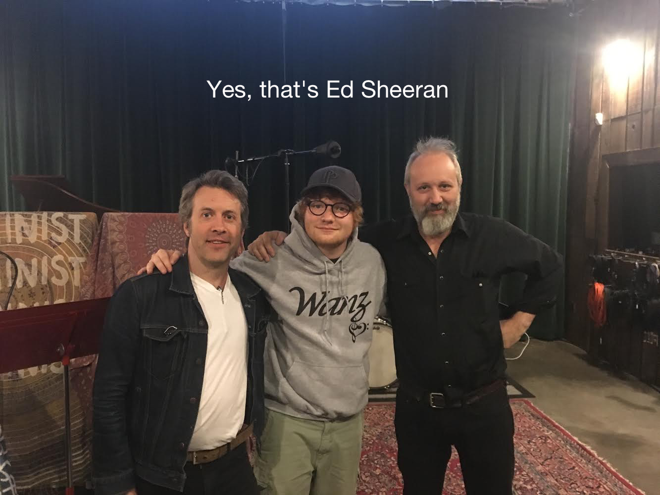 Yes that's Ed Sheeran at Seismic Sean Flora steve murray.jpg