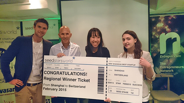 Among Rumarocket's many accolades is winning the regional competition of Seedstars World in 2014, when CEO Kathleen Yu (second from right) was only 23 years old  Image Courtesy:  Entrepreneur
