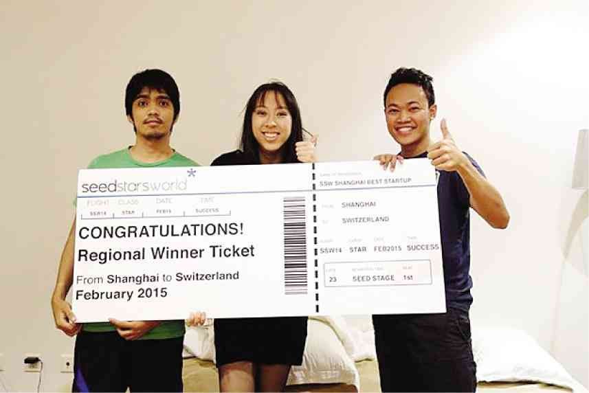 Kathleen Yu and her Rumarocket team  Image Courtesy:  Inquirer.net